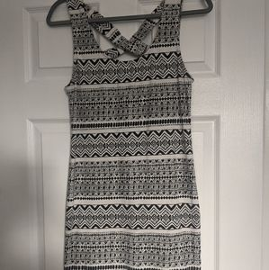 Tribal Print Short Sleeveless Dress